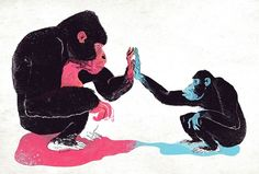 """Monkey See..."" Apes by illustrator Dushan Milic. Love this piece."