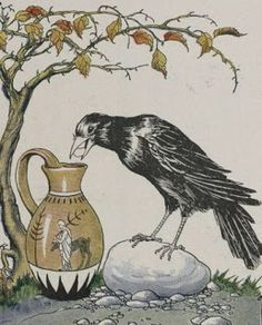 The Crow and the Pitcher - Aesop. patience and divergent thinking