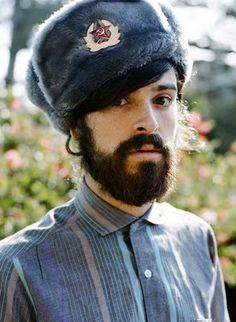 Devendra Banhart / cool Russian hat, facial hair