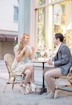 outdoor cafe coffee date | Photo by Jeremy Harwell honey moon ideas!