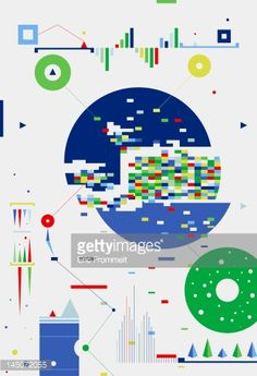 View top-quality illustrations of Abstract Geometric Shapes Graphs And Charts. Find premium, high-resolution illustrative art at Getty Images. Information Visualization, Data Visualization, Information Design, Information Graphics, Art Actuel, Grafik Design, Graphic Design Inspiration, Book Design, Map Design