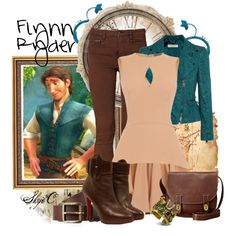 """Flynn Ryder Outfit - Disney's Tangled"" by rubytyra on Polyvore"