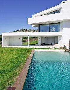 pool hintergarten el viento moderne villa auf marmorstein grundlage
