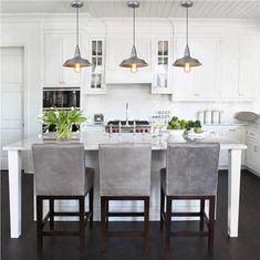 LNC HOME Traditional Linear Kitchen Island Lighting Dining Room Lighting island ideas Classic Kitchen, New Kitchen, Kitchen Decor, Kitchen Ideas, Kitchen Layout, Awesome Kitchen, Rustic Kitchen, Barn Kitchen, Kitchen Designs