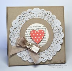 Stampin Up Doiley and circle and heart punches