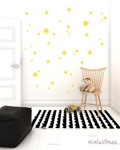 Yellow little stars Wall Decal Vinyl by NicolasitoEs on Etsy