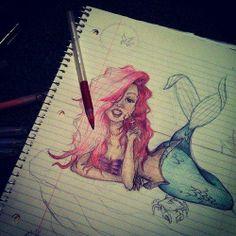 #ariel #mermaid #cartoon #drawing #sexy #disney