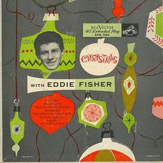 Vintage Christmas Record Album ~ Christmas with Eddie Fisher