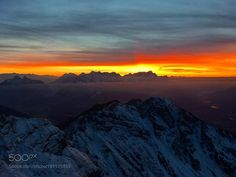 Sunset at the Alps by florianbreitenberger #nature #mothernature #travel #traveling #vacation #visiting #trip #holiday #tourism #tourist #photooftheday #amazing #picoftheday