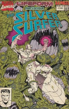"""""""Lifeform, Part 4 of 4: Lifeform -- Termination"""" 2: """"The Powers of the Silver Surfer's Board"""" 3: """"Shades of Guilt"""" _1st Ron Marz work on Silver Surfer , Written By Jim Stalin , Ron Marz , Art Ron Lim"""