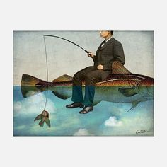 Sky Fishing Print S, now featured on Fab.