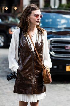 Street style at Fashion Week Spring-Summer 2018 New York