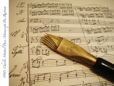 1910s MUSIC RASTRUM MANUSCRIPT NIB PEN UNUSUAL RARE MINT DIP ANTIQUE VINTAGE PEN