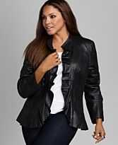 A feminine black leather jacket!  Where have you been all my life?