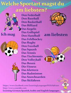 Welche Sportart magst du am liebsten?