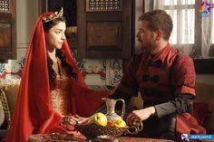 Muhteşem Yüzyıl 116. Bölüm Fotoğrafları - Engin Öztürk (Şehzade Selim), Merve Boluğur (Nurbanu Sultan)