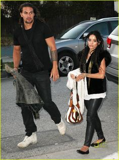 Jason Momoa & Lisa Bonet: Shine On Sierra Leone: Photo Jason Momoa and Lisa Bonet step out for Shine On Sierra Leone, a fundraiser held at a private residence on Wednesday (May in Venice, Calif. Celebrity Look, Celebrity Couples, Beautiful Couple, Gorgeous Men, Jason Momoa Lisa Bonet, Jason Momoa Aquaman, Phylicia Rashad, Zoe Kravitz, Matches Fashion