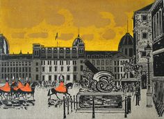 """Cadiz Cannon"" by Robert Tavener 1920-2004 St. Jude's specialising in British printmaking"