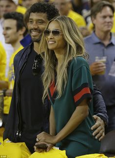 Courtside couple: Ciara and Russell Wilson snagged dream seats forGame 7 of basketball's NBA Finals between the Golden State Warriors and the Cleveland Cavaliers in Oakland, California, on Sunday,