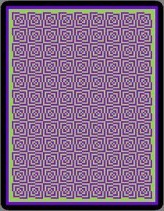 Crochet Chart  DIGITAL DOWNLOAD  Purple / Green by Hookintothebeat
