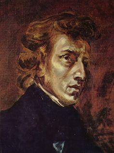 <쇼팽의 초상> 1838, 들라 크루아  이 작품은 '민중을 이끄는 자유의 여신'으로 잘 알려진 들라 크루아의 작품이다. 12살 차이가 난 그들은 진한 우정을 나눴다. 쇼팽이 병상에 누워 사경을 헤맬 떼 들라 크루아가 그의 곁을 지켰다고 한다. 누구보다 쇼팽의 내면을 잘 이해했던 들라 크루아는 쇼팽의 초상화를 그렸다. 그의 눈에 비친 쇼팽은 반항적이고 다소 고집스러운 표정을 하고 있다. 따라서 삽입한 곡은 쇼팽의 발라드 1번이다. 이 곡은 슈만이 거칠고 독창적이라고 평가한 곡으로 들라 크루아가 그려낸 쇼팽의 특징을 잘 드러낸다.   ♪http://www.youtube.com/watch?v=nW5po_Z7YEs