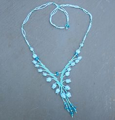 Dovedale Necklace teal and turquoise