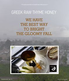 A few days back to the Netherlands, and although I already miss Greece, I'm lucky enough to start this fall's mornings with GREEK RAW THYME HONEY from THETA Foods Co. Thank you Sporus in Naousa, Paros for showcasing excellent Greek Products ! ‪#‎Greece‬ ‪#‎Premium‬ ‪#‎Honey‬ ‪#‎Breakfast‬ ‪#‎Netherlands‬ ‪#‎Paros‬  Read about THETA here: http://wp.me/p6pqbN-Nu