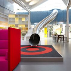 a sneak peek at LEGO's funhouse-style design offices