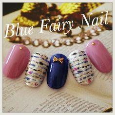 ツイードアートをご紹介頂きました♪ の画像 吹田市 千里丘 ネイルサロン Blue Fairy Nail