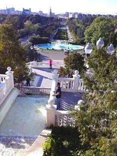 Vista desde la Cascada del Parque Juan Antonio Labordeta, Zaragoza España