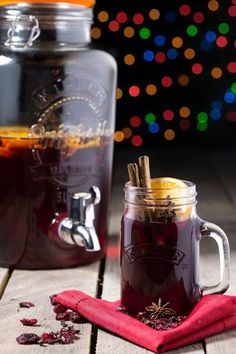 Mulled wine - vin brulé - this spiced drink for winter can also be made with cider.....