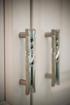 Could make myself!...Laundry Room Knobs: http://www.cabinetknobsandmore.com/Michael-Aram-Utensil-and-Branch-and-Knobs.html