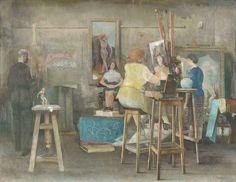 Studio Interior, 1946 by James Cowie (Scottish 1886-1956)