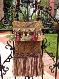 Victorian Romantic Gypsy Shoulder Bag Gold and by ItsSewAnny, $75.00