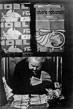 Seller of lottery tickets, 1960 by Jean Dieuzaide.