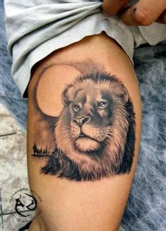 This is one of the simplest Lion tattoo designs on the list, yet it is very cool.