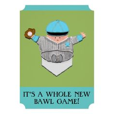 BASEBALL BABY SHOWER PERSONALIZED INVITATION