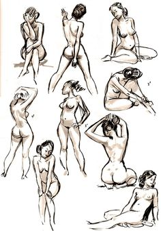 #sketch #woman #body