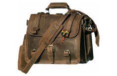 "Saddleback Leather Co. ""A Dark Coffee Brown Leather Briefcase, Backpack, Handbag"""