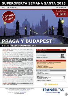 PRAGA y Budapest / 8 días ¡¡6 Últimas Plazas Semana Santa: 29 marzo!! sal. Bilbao ultimo minuto - http://zocotours.com/praga-y-budapest-8-dias-6-ultimas-plazas-semana-santa-29-marzo-sal-bilbao-ultimo-minuto/