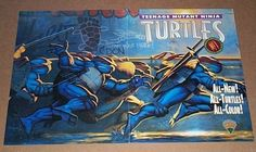 1993 Teenage Mutant Ninja Turtles TMNT comic book promotional promo poster: 1990's