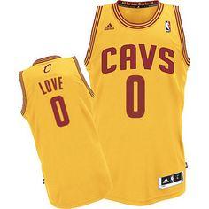 Adidas NBA Cleveland Cavaliers 0 Kevin Love New Revolution 30 Swingman Yellow Jersey
