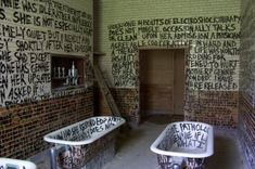 Graffiti in an abandoned mental institution.