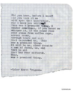 Typewriter Series #1938 by Tyler Knott Gregson *This was written for our friends Reed + Nick for their wedding* Check out my Chasers of the Light Shop! chasersofthelight.com/shop