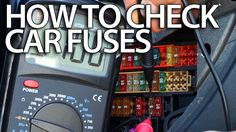 How to check car for blown #fuses with #multimeter (electric & electronic #DIY diagnostics)