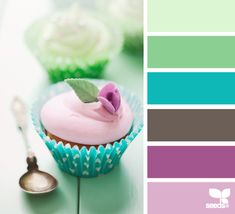 cupcake hues - these would be cute colors for a little girl's room
