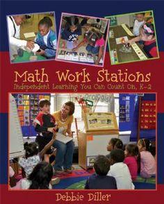 Math Work Stations Independent Learning You Can Count On, Debbie Diller - Schedule for the Online Book Study & Bookmark Preschool Math, Math Classroom, Fun Math, Kindergarten Math, Teaching Math, Classroom Ideas, Teaching Ideas, Creative Teaching, Teaching Materials