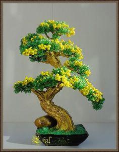 Bonsai Tree Price, Buy Bonsai Tree, Japanese Bonsai Tree, Bonsai Tree Care, Mini Bonsai, Bonsai Plants, Bonsai Trees, Beaded Flowers Patterns, French Beaded Flowers