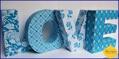 Love - letras em 3D
