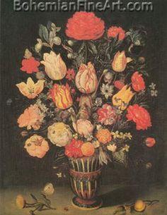 Ambrosius Bosschaert the Elder, Still Life of Flowers Fine Art Reproduction Oil Painting